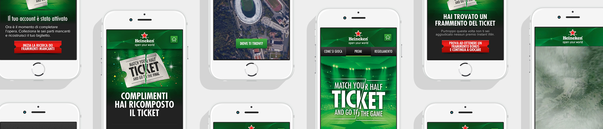 Heineken Match Your Half Ticket